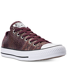 Converse Women's Chuck Taylor Ox Fashion Snake Casual Sneakers from Finish Line