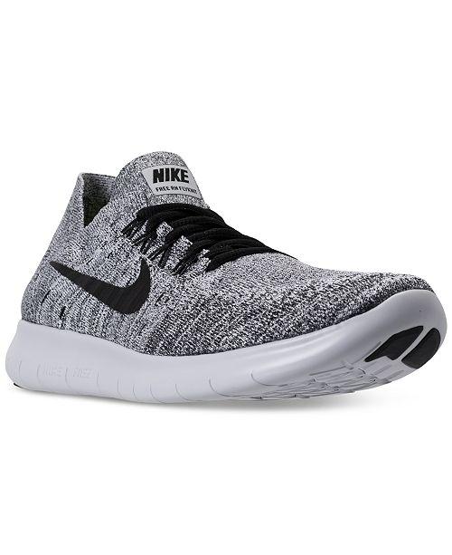 Nike Men's Free Run Flyknit 2017 Running Sneakers from ...