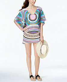 Bar III Sunburst Caftan Cover-Up, Created for Macy's
