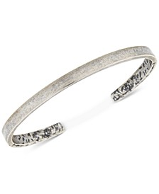 Men's Burnout Cuff Bracelet in Sterling Silver