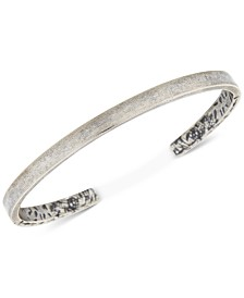 DEGS & SAL Men's Burnout Cuff Bracelet in Sterling Silver