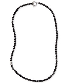 Men's Onyx Beaded Statement Necklace (Also in Manufactured Turquoise)