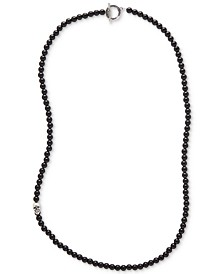 DEGS & SAL Men's Onyx Beaded Statement Necklace (Also in Manufactured Turquoise)