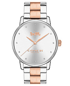 COACH Women's Grand Two-Tone Stainless Steel Bracelet Watch 36mm