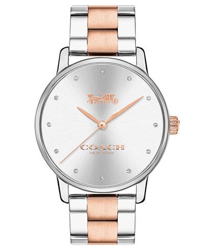 COACH Women's Grand Two-Tone Stainless Steel Bracelet Watch 36mm