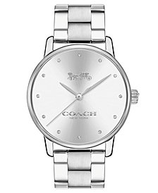 COACH Women's Grand Stainless Steel Bracelet Watch 36mm