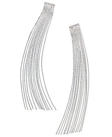 Thalia Sodi Silver-Tone Fringe Linear Drop Earrings, Created for Macy's