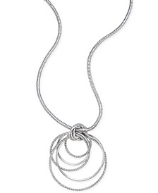 Silver-Tone Multi-Ring Pendant Necklace, Created for Macy's