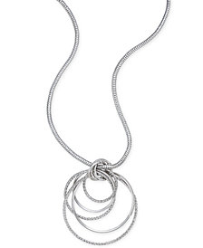 Thalia Sodi Silver-Tone Multi-Ring Pendant Necklace, Created for Macy's