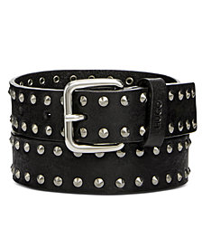 Hugo Boss Men's Studded Leather Belt