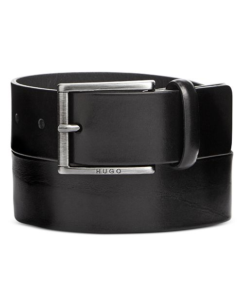 837b168217d Hugo Boss Men s GEID Leather Belt   Reviews - All Accessories - Men ...