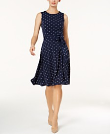 Charter Club Petite Printed Midi Dress, Created for Macy's