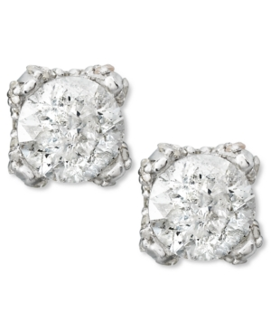 Diamond Stud Earrings in 14k White Gold (1 ct. t.w)