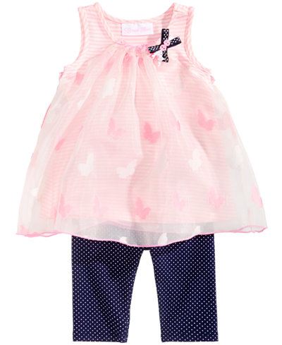 Bonnie Baby 2-Pc. Tunic & Capri Leggings Set, Baby Girls