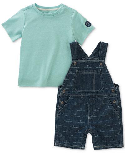 Calvin Klein 2-Pc. T-Shirt & Printed Overall Set, Baby Boys