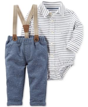 Carters 3Pc Bodysuit Pants  Suspenders Set Baby Boys (024 months)