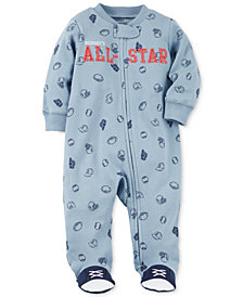 Carter's Baby Boys All-Star Cotton Footed Coverall