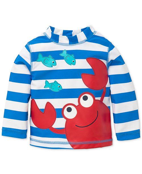 Little Me Striped Crab Rash Guard, Baby Boys