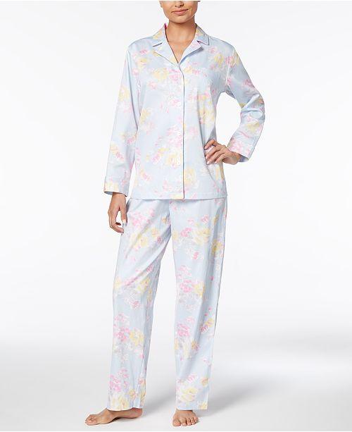 5784c393f5 Lauren Ralph Lauren Petite Floral-Print Sateen Pajama Set   Reviews ...