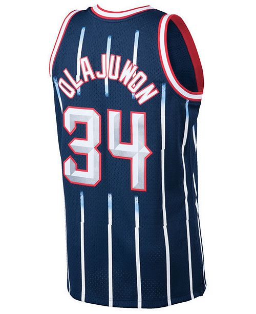 low priced b4778 476d6 Men's Hakeem Olajuwon Houston Rockets Hardwood Classic Swingman Jersey