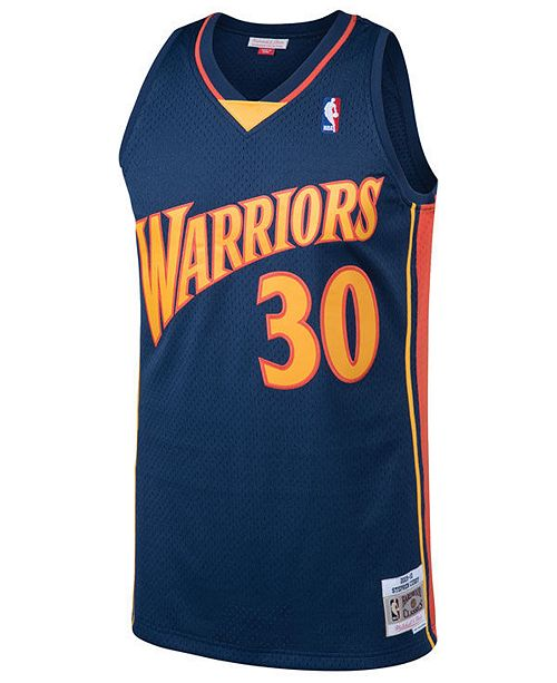 brand new 9aabb d76b6 Mitchell & Ness Men's Stephen Curry Golden State Warriors ...