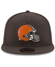 New Era Cleveland Browns Bold Bevel 9FIFTY Snapback Cap