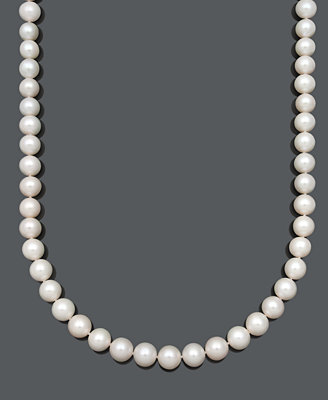 "Aa+ 20"" Cultured Freshwater Pearl Strand Necklace (10 1/2 11 1/2mm) In 14k Gold by Belle De Mer"