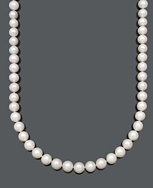 "Belle de Mer AA+ 20"" Cultured Freshwater Pearl Strand Necklace (10-1/2-11-1/2mm) in 14k Gold"