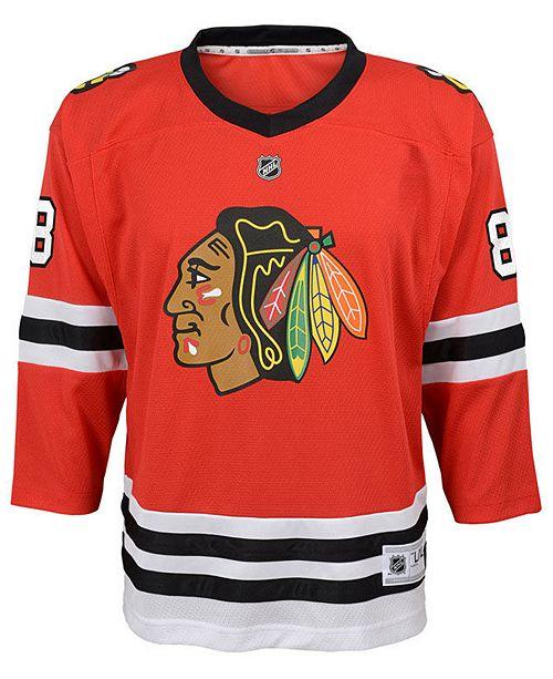 185056e6f ... Authentic NHL Apparel Patrick Kane Chicago Blackhawks Player Replica  Jersey, Big Boys (8- ...