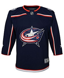 Columbus Blue Jackets Premier Blank Jersey, Big Boys (8-20)