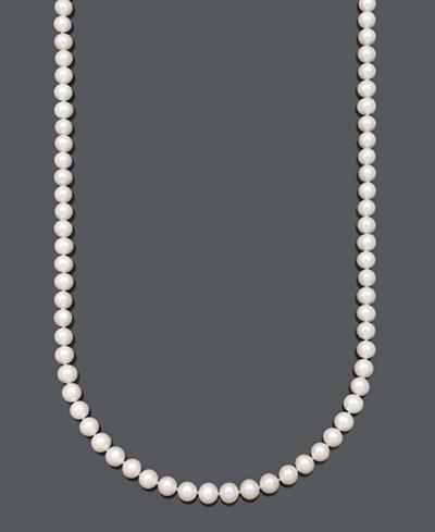 Belle de Mer Cultured Freshwater Pearl Strand Necklace (7-1/2-8-1/2 mm) in 14k Gold