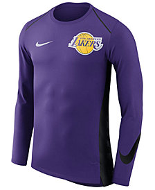 Nike Men's Los Angeles Lakers Hyperlite Shooter Long Sleeve T-Shirt