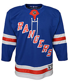 Authentic NHL Apparel New York Rangers Premier Blank Jersey, Big Boys (8-20)