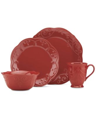 French Perle Cherry 4-Pc. Place Setting