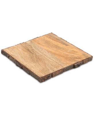 CLOSEOUT! Bark-Edge Wood Trivet