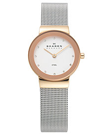 Skagen Women's Stainless Steel Mesh Bracelet Watch 26mm 358SRSC