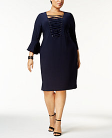 Love Scarlett Plus Size Criss-Cross Midi Dress