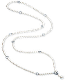 Carolee Silver-Tone Pavé Ring & Imitation Pearl Convertible Strand Necklace