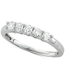 Diamond Five-Stone Band (1/2 ct. t.w.) in 14k White Gold