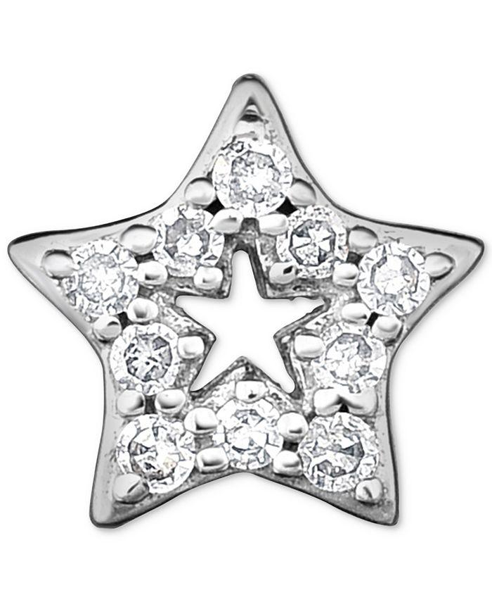 Macy's - Diamond Accent Star Single Stud Earring in 14k White Gold