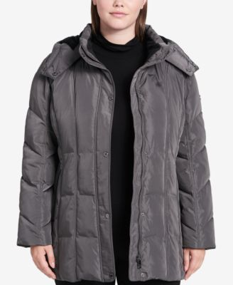 Plus Size Hooded Puffer Coat