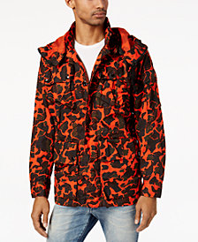 G-Star RAW Men's Submarine Camouflage-Print Hooded Jacket