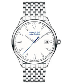 Movado Women's Swiss Heritage Series Calendoplan Stainless Steel Bracelet Watch 36mm