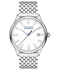 Movado Women's Swiss Heritage Series Calendoplan Stainless Steel Bracelet Watch 36mm