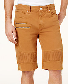 GUESS Men's Pintucked Stretch Shorts