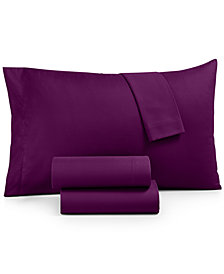 Microfiber 4-Pc Full Sheet Set, Created for Macy's