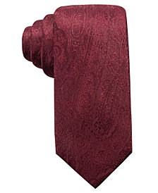 Ryan Seacrest Distinction™ Men's Ramapo Paisley Slim Silk Tie, Created for Macy's