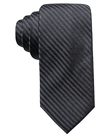 Ryan Seacrest Distinction™ Men's Floyd Stripe Slim Silk Tie, Created for Macy's