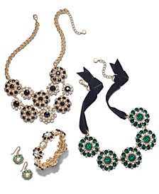 Charter Club Gold-Tone Multi-Stone & Black Velvet Jewelry Collection, Created for Macy's