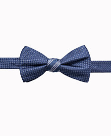 Ryan Seacrest Distinction™ Men's Reversible Stripe/Neat Two Side To-Tie Silk Bow Tie, Created for Macy's